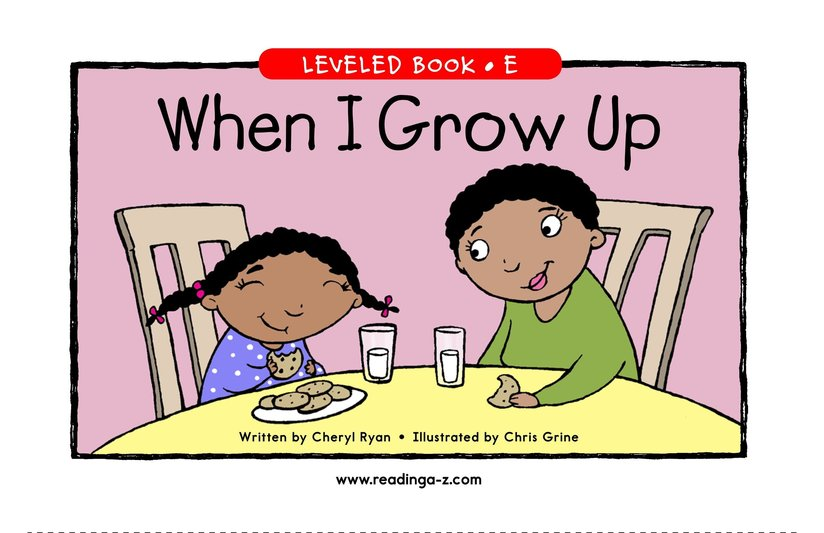 Book Preview For When I Grow Up Page 1