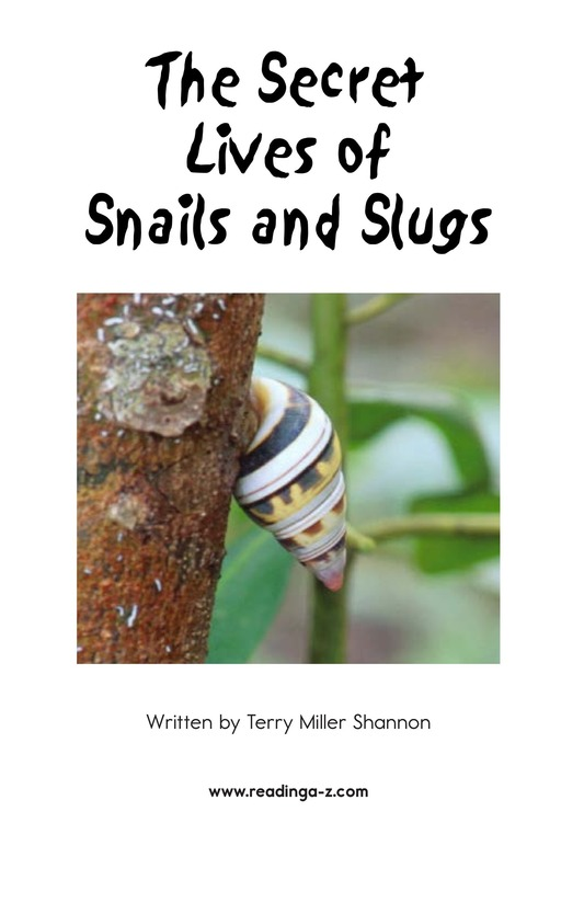 Book Preview For The Secret Lives of Snails and Slugs Page 2