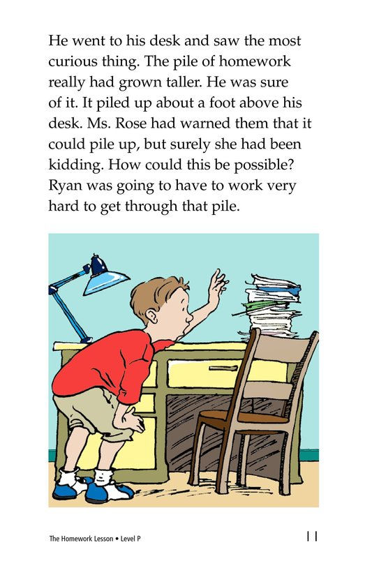 Book Preview For The Homework Lesson Page 11