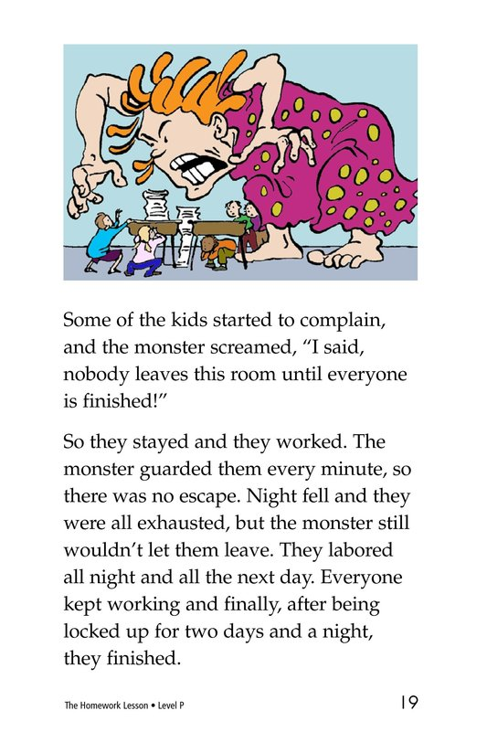 Book Preview For The Homework Lesson Page 19