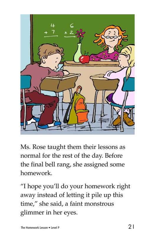 Book Preview For The Homework Lesson Page 21