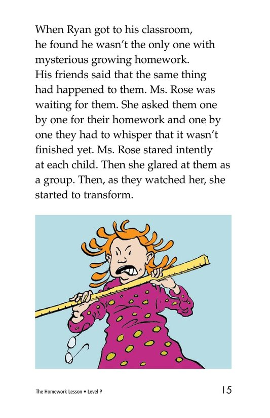 Book Preview For The Homework Lesson Page 15