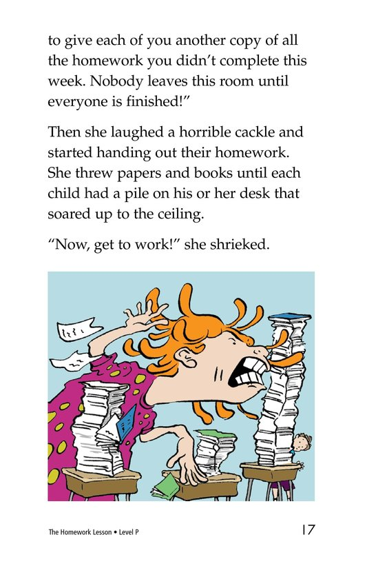Book Preview For The Homework Lesson Page 17