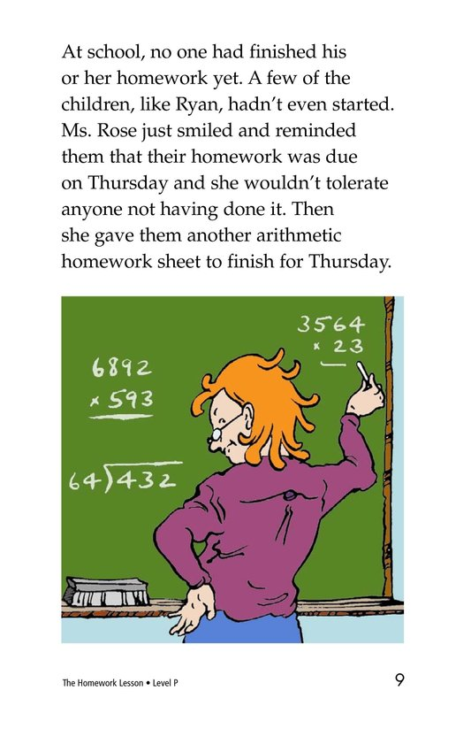 Book Preview For The Homework Lesson Page 9