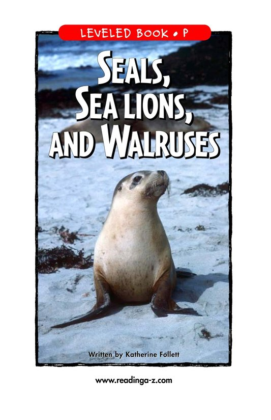 Book Preview For Seals, Sea Lions, and Walruses Page 1
