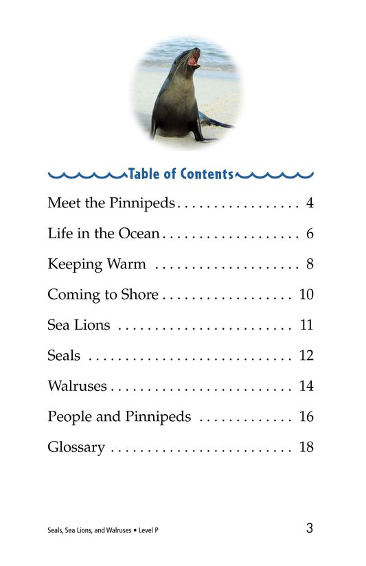 Book Preview For Seals, Sea Lions, and Walruses Page 3