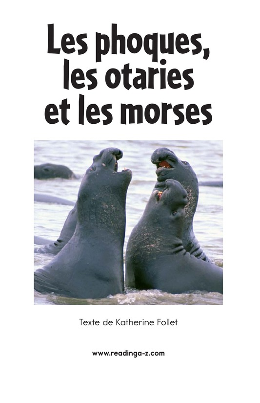 Book Preview For Seals, Sea Lions, and Walruses Page 2