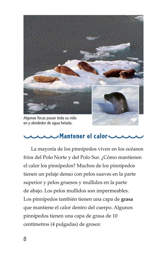 Book Preview For Seals, Sea Lions, and Walruses Page 8