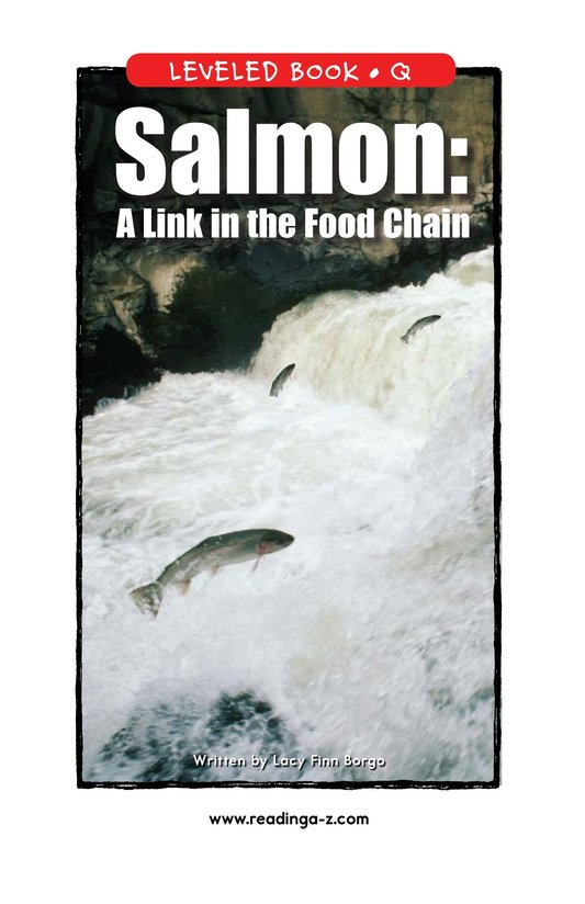 Book Preview For Salmon: A Link in the Food Chain Page 1
