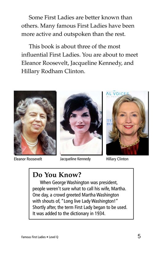 Book Preview For Famous First Ladies Page 5