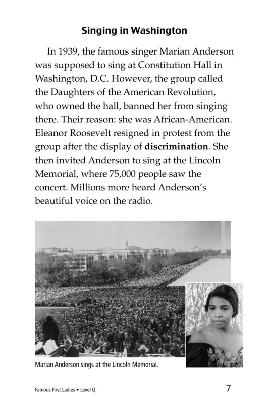 Book Preview For Famous First Ladies Page 7