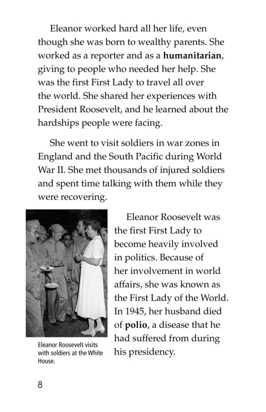 Book Preview For Famous First Ladies Page 8