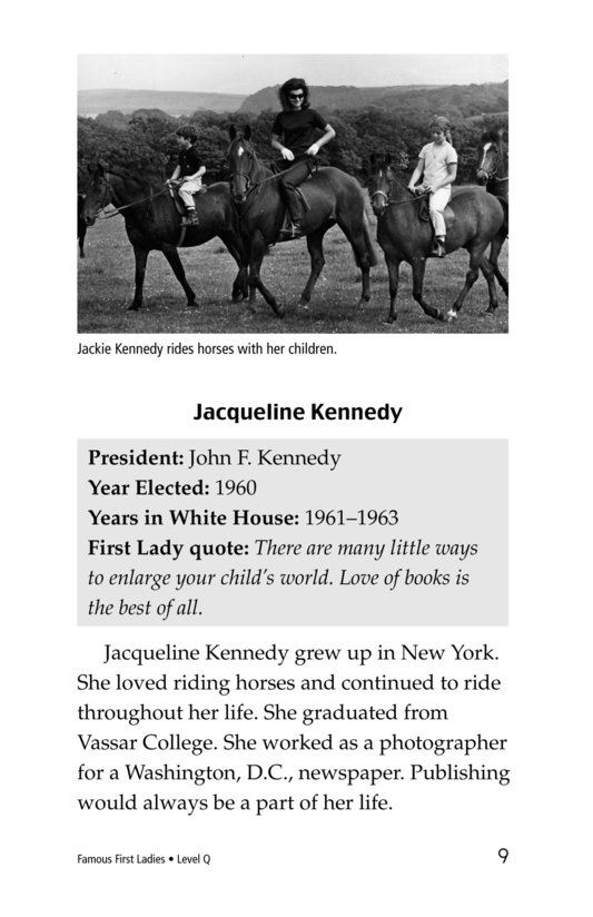Book Preview For Famous First Ladies Page 9