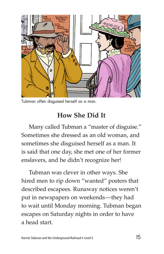 Book Preview For Harriet Tubman and the Underground Railroad Page 15