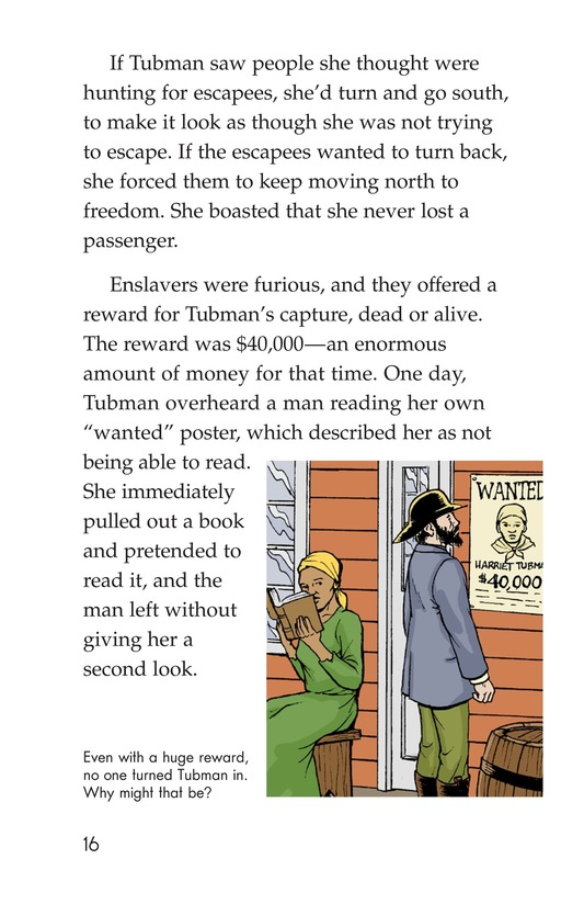 Book Preview For Harriet Tubman and the Underground Railroad Page 16