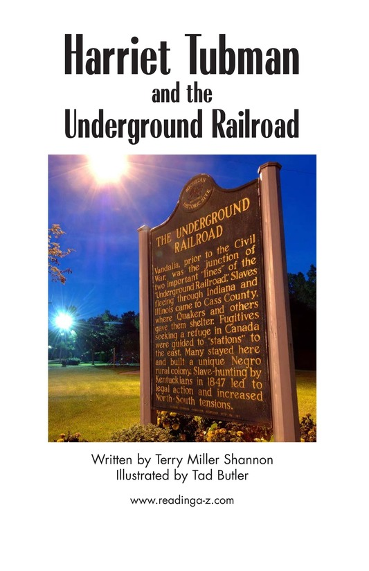Book Preview For Harriet Tubman and the Underground Railroad Page 2