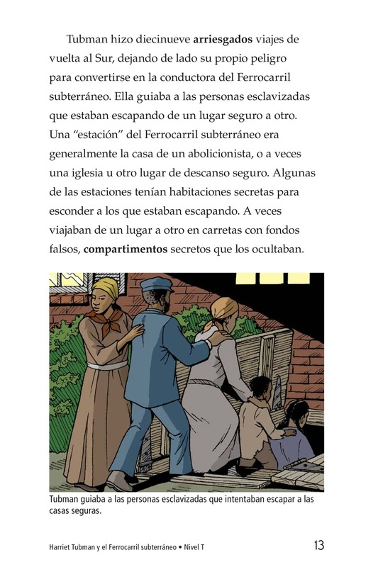 Book Preview For Harriet Tubman and the Underground Railroad Page 13