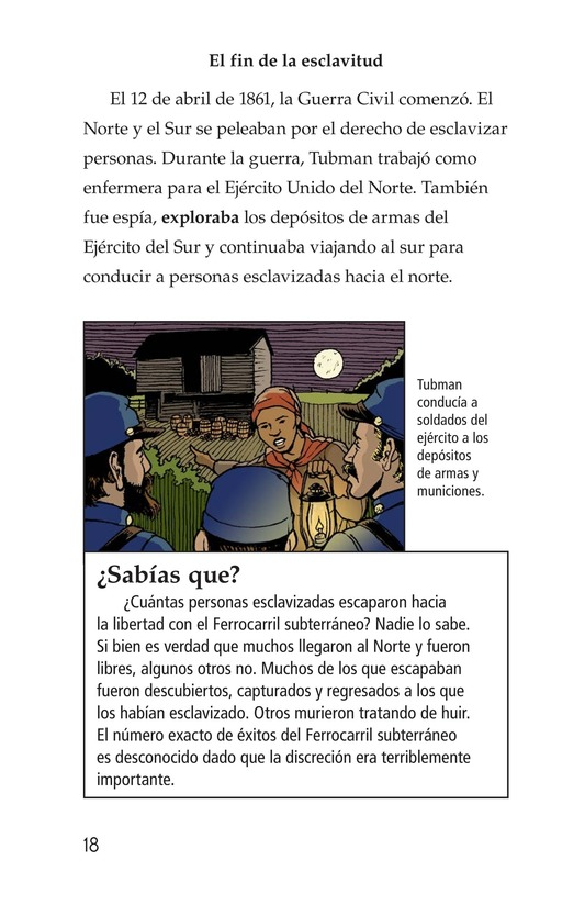 Book Preview For Harriet Tubman and the Underground Railroad Page 18