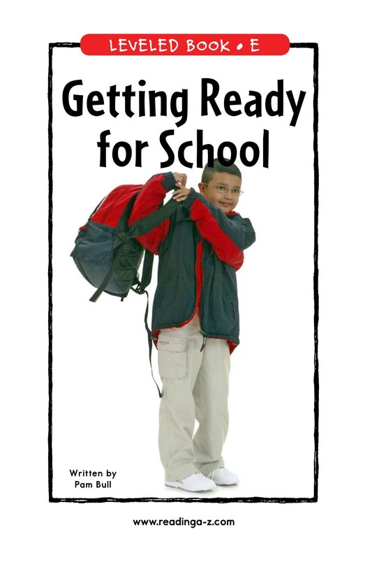 Book Preview For Getting Ready for School Page 1
