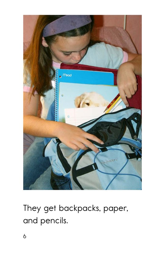 Book Preview For Getting Ready for School Page 6