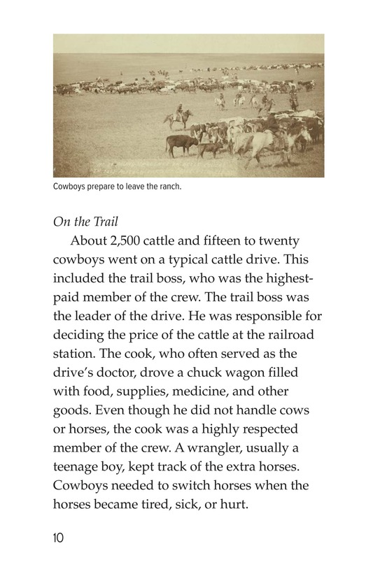 Book Preview For Yee Haw! The Real Lives of the Cowboys Page 10