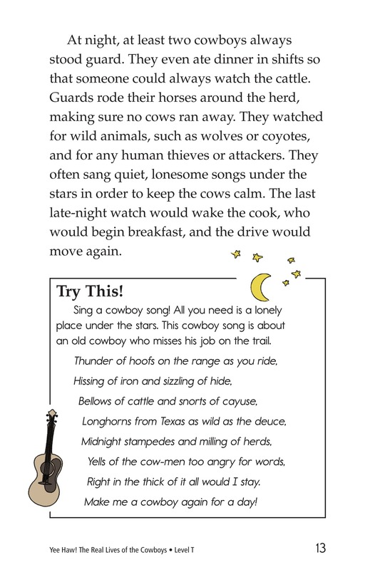Book Preview For Yee Haw! The Real Lives of the Cowboys Page 13