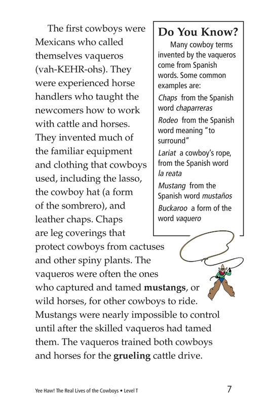 Book Preview For Yee Haw! The Real Lives of the Cowboys Page 7
