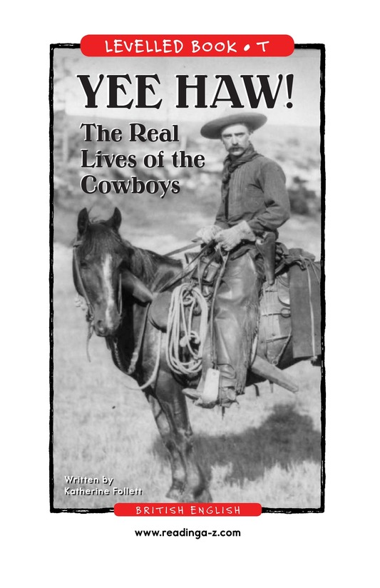 Book Preview For Yee Haw! The Real Lives of the Cowboys Page 1