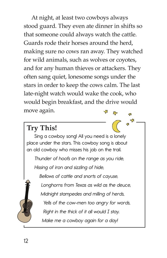 Book Preview For Yee Haw! The Real Lives of the Cowboys Page 12