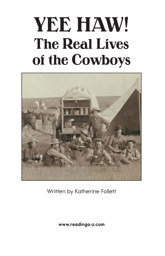 Book Preview For Yee Haw! The Real Lives of the Cowboys Page 2