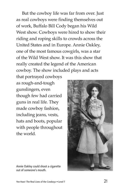 Book Preview For Yee Haw! The Real Lives of the Cowboys Page 21