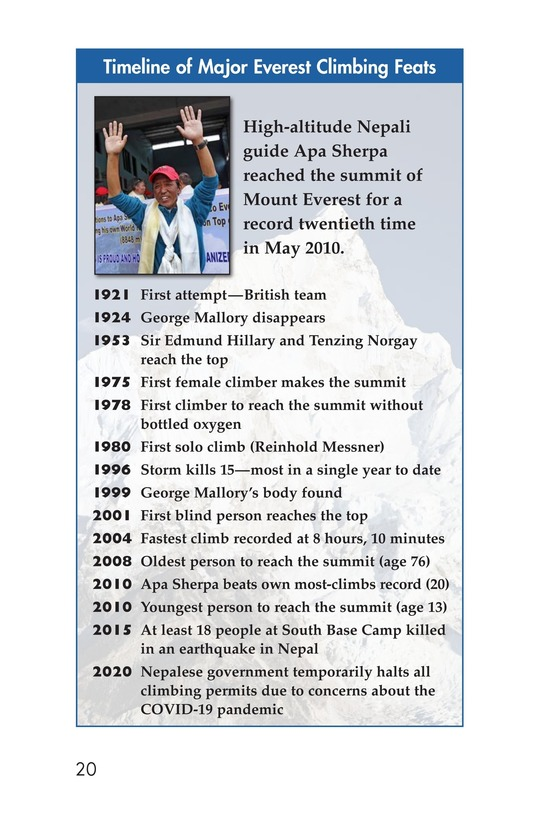 Book Preview For Everest: On Top of the World Page 20
