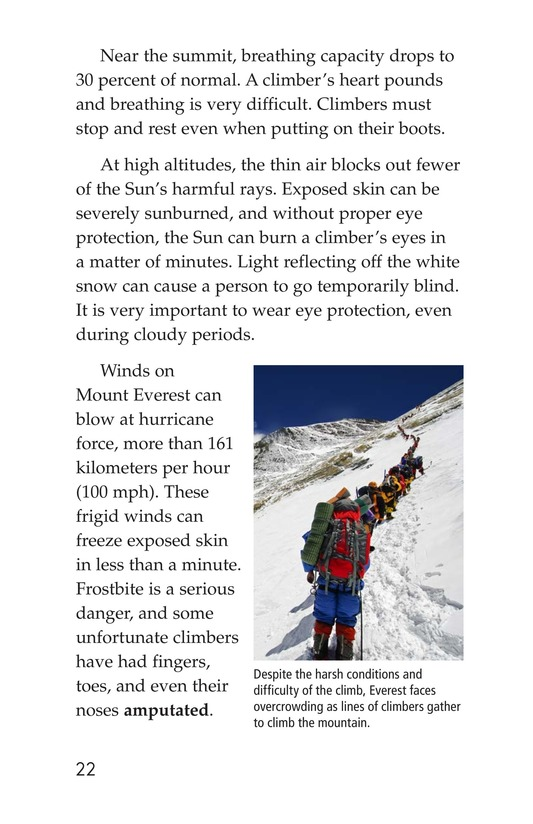 Book Preview For Everest: On Top of the World Page 22