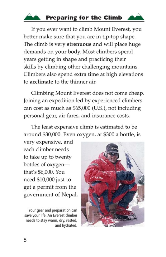 Book Preview For Everest: On Top of the World Page 8