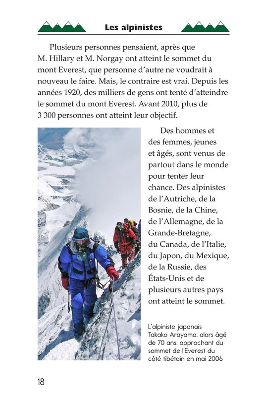 Book Preview For Everest: On Top of the World Page 18