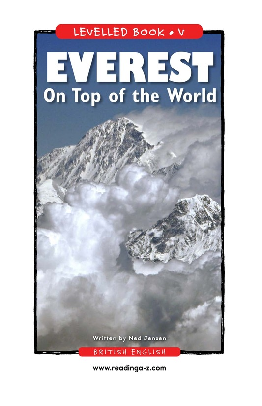 Book Preview For Everest: On Top of the World Page 1