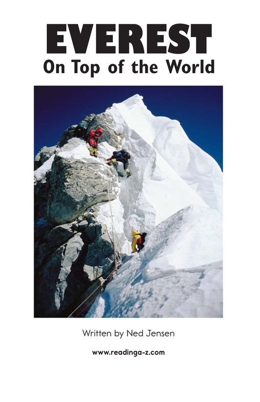 Book Preview For Everest: On Top of the World Page 2