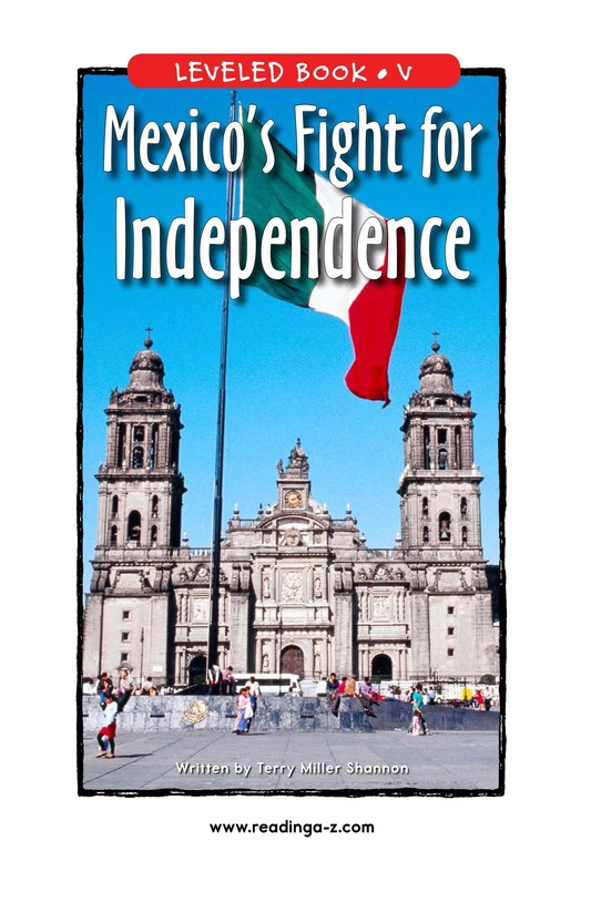 Book Preview For Mexico's Fight for Independence Page 1