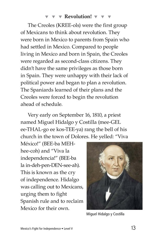 Book Preview For Mexico's Fight for Independence Page 13