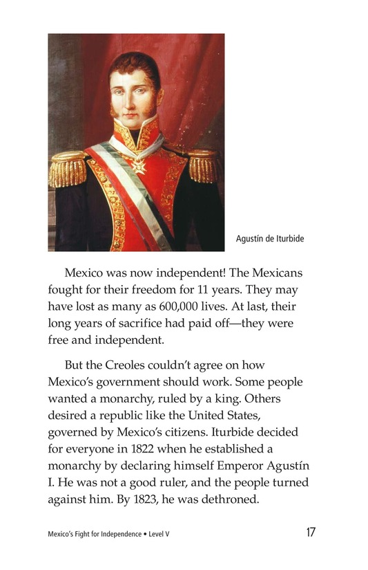Book Preview For Mexico's Fight for Independence Page 17