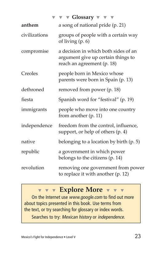 Book Preview For Mexico's Fight for Independence Page 23