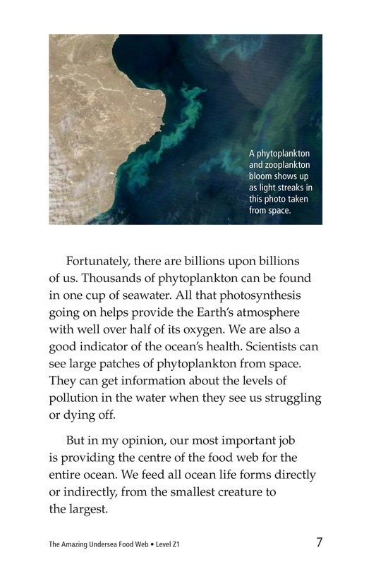 Book Preview For The Amazing Undersea Food Web Page 7