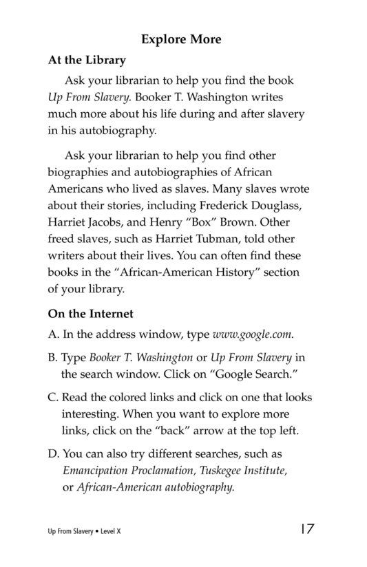 Book Preview For Up From Slavery Page 17