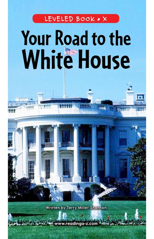Book Preview For Your Road to the White House Page 0