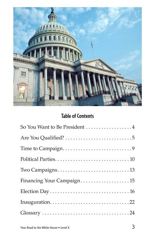 Book Preview For Your Road to the White House Page 3