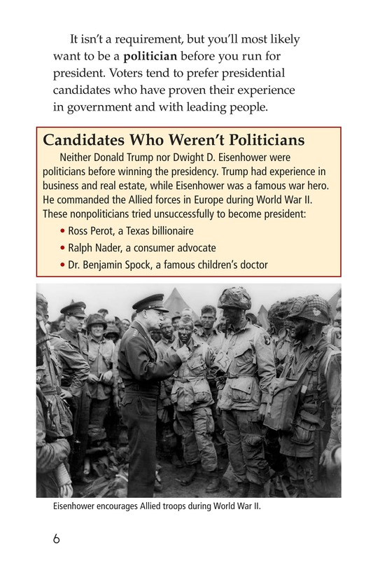 Book Preview For Your Road to the White House Page 6