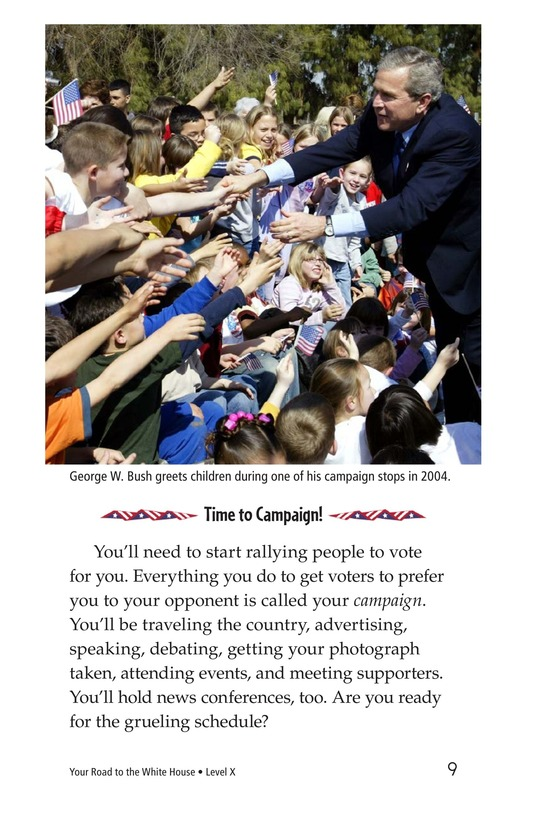 Book Preview For Your Road to the White House Page 9