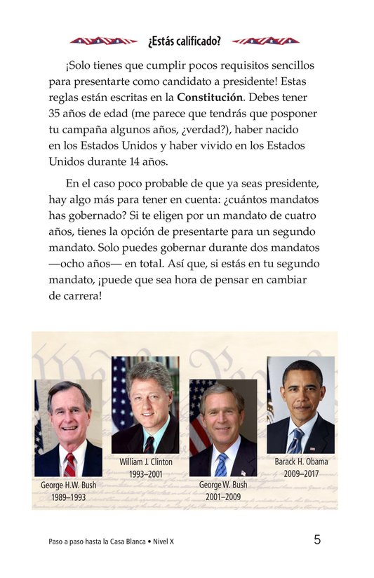 Book Preview For Your Road to the White House Page 5