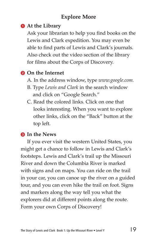 Book Preview For The Story of Lewis and Clark Book 1: Up the Missouri River Page 19