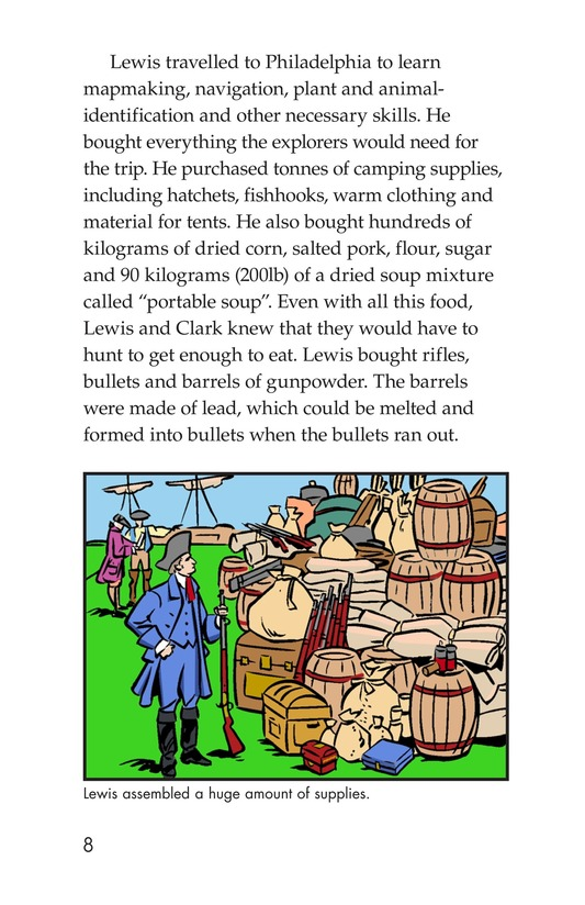 Book Preview For The Story of Lewis and Clark Book 1: Up the Missouri River Page 8